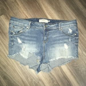 Torrid Cut-Off Denim Shorts